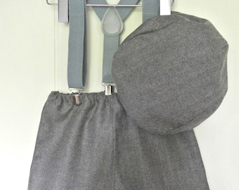 Grey tweed sitter set photo prop