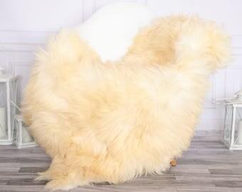 Sheepskin Rug | Real Sheepskin Rug | Shaggy Rug | Chair Cover | Sheepskin Throw | Ivory Sheepskin | CHRISTMAS DECOR | #NOVHER43