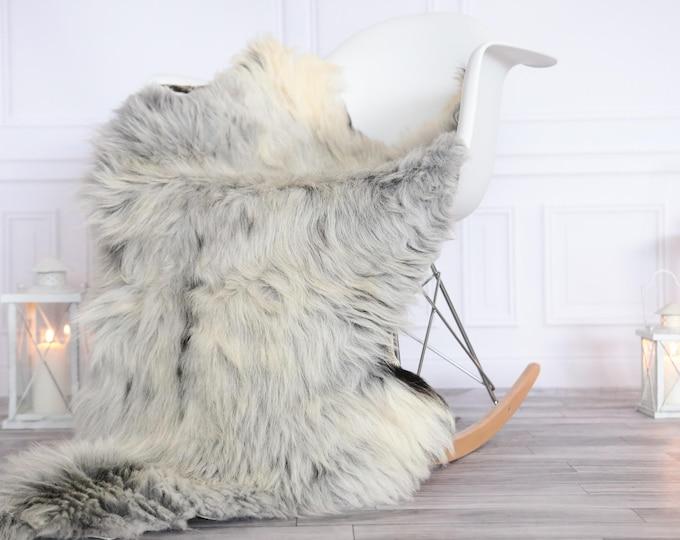 Organic Sheepskin Rug, Real Sheepskin Rug, Gute Sheepskin, Christmas Home Decor, Gray ivory Sheepskin Rug #OCTGUTE13