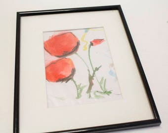 Small poppy flower