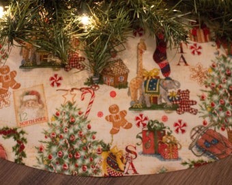 Christmas Tree Skirt-Santa Claus-Wreath-Classic Christmas-Traditional Christmas-Christmas Tree-Gingerbread Man-Stockings-Antique