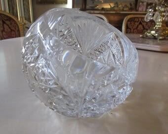 CUT GLASS ASHTRAY or Votive Holder