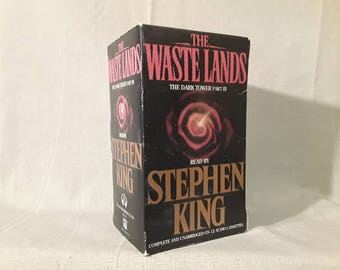 Stephen King The Waste Lands Cassette Set, The Dark Tower Audiobook Collection, 12 Tapes Unabridged, Read by Stephen King, The Gunslinger
