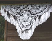 Boho Deco- Large Crochet Flag - Large Crochet Wall Hanging Decor - Large Bohemian Wall Decor - Large Boho Deco - Boho Wedding Deco - 170cm
