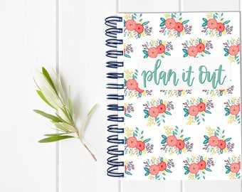 Large Undated Inspirational Planner - One Year Fill in Calendar Notebook - Mother Hustler Weekly Planbook - Monthly Weekly Mom Boss Schedule