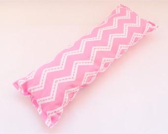 Jumbo Catnip toy // Pink zig zag