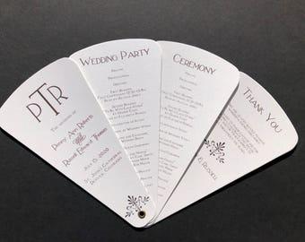 Deco Wedding Petal Fan Program