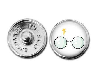Harry Potter Glass snap charm