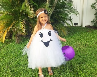 Ghost tutu, ghost costume, ghost tutu costume, friendly ghost tutu dress, ghost dress, Halloween costume