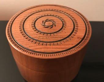 Cherry Wood Lidded Box