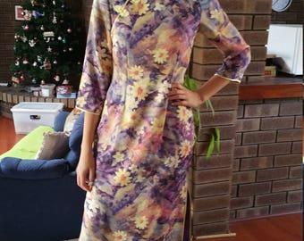 VINTAGE Silk Chinese Dress (8/10)  Lilac