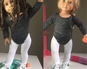 """Leotard leggings and runners fit American Girl Our Generation 18"""" Doll clothes"""