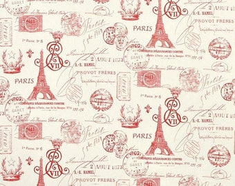 weekend sale custom fabric shower curtain french stamp red natural 54 x 78 long shower curtain