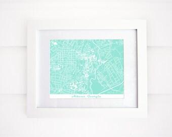 UGA Map, Athens, GA Map, More Colors!