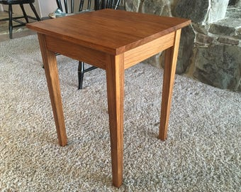 Brazilian Cherry End Table Solid Jatoba