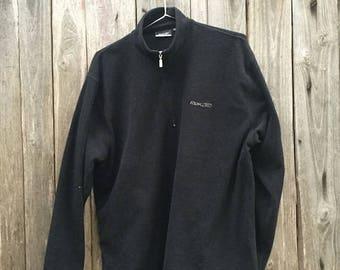 Reebok Shirt/ Vintage/ 90s/ size XL/ pile/ black/ zip/ 100% polyester
