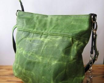 Canvas Bag Women, Waxed Canvas Bag, Canvas Tote Bag, Canvas Travel Bag, Waxed Canvas Crossboby Bag, Zipper Bag, Waxed Canvas Tote Bag