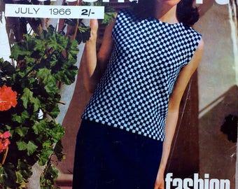 Vintage Stitchcraft magazine July 1966 knitting, crochet, cross stitch, tapestry patterns