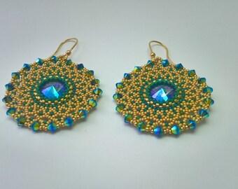 Terra earrings-handmade earrings-Swarovski crystals-Made in Italy