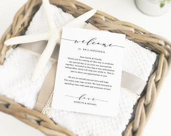 Wedding welcome letter   Printable welcome card   Rustic welcome notes   Printable Welcome   Editable in Word or Pages