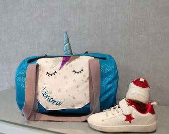 Sports bag Unicorn glitter-child-Unicorn - Unicorn bag bag duffel bag
