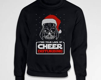 Christmas Sweater For Men I Find Your Lack Of Cheer Disturbing Xmas Pullover Santa Claus Xmas Clothes Christmas Outfit Christmas Gift TEP385