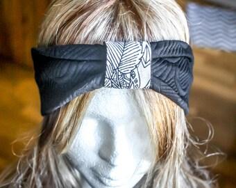 Headband jersey Japanese motifs in relief