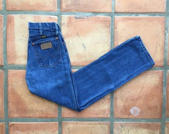 XS Vintage Wranglers, High Waist Blue- Tight and Flattering- 13MWZ Sz 24 25 26