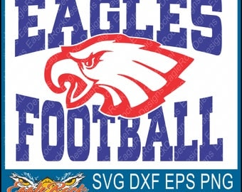 Eagles Football| SVG| DXF| EPS| Png| Cut File| Eagles| Football| Mom| Dad| Sister| Brother| Vector| Instant Download