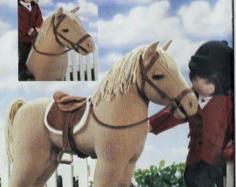 "Horse, saddle, bridle and blanket pattern for 18"" Dolls  Vogue Doll Collection 7603 V7603 P908 P616 (2002) UNCUT & FF  K1083"