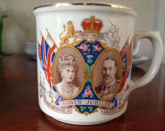 George V and Queen Mary Silver Jubilee Mug Little Thurrock