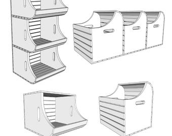 Display and/or Storage Bin   - PDF File - Craft Fair - Storage Bin - Display Bin