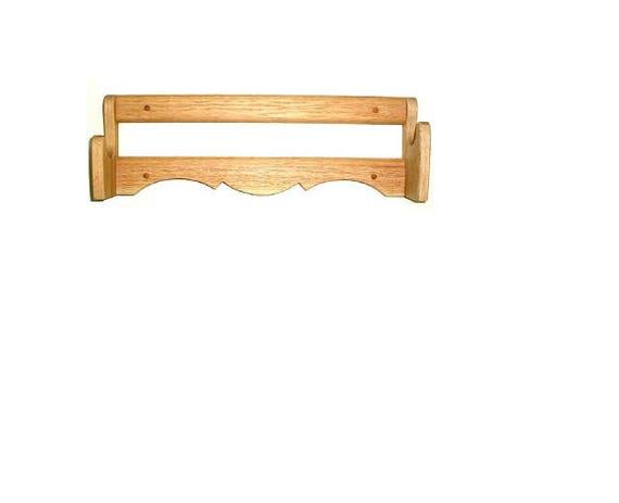 Oak Wooden Single Gun Rack Rifle Shotgun Wall Mount Display