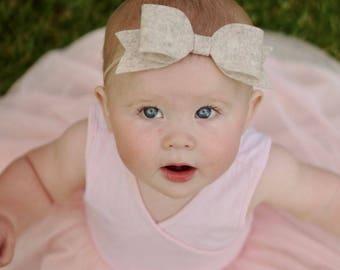 Jumbo Bow, Jumbo Felt Bow, Headband, Baby Girl Headband, Jumbo Size