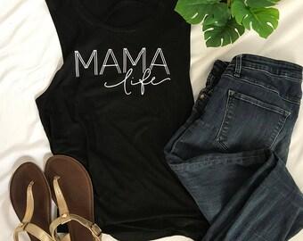 Mama Life Tank Top | New Mom Tank Top | Mama Shirt | Cute Mommy Tank Top | Mom Life Shirt | Mama Bear Shirt | Baby Shower Gift for Mom