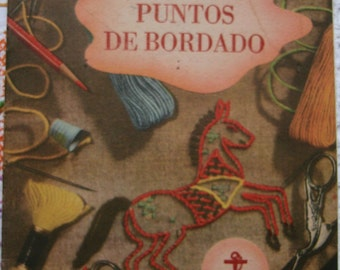 Vintage embroidery pattern.Needlecraft.Craft supply.Bordado.Vintage embroidery book.Needlework.Clark&co.Great Britain.Bordado antiguo.