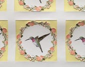 Hummingbird stickers for Wedding, Bridal Shower, Birthday, Special Occasions
