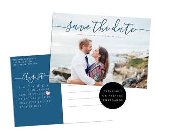 Photo Save the Date, Beach Wedding Save the Date, Save the Date Magnet, Photo Save the Date Postcard, Save the Date Photo Postcard