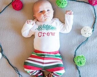 Christmas Shirt for Babies - Pine Branch Christmas Baby Shirt - Baby's First Christmas Shirt - Woodland Christmas - Christmas Photos Outfit