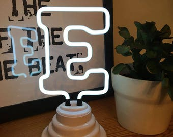 Mini Neon Letter Lights - Battery/USB Operated - A-Z - Perfect Gift, Room Decor - Neon Gas, Neon Sign