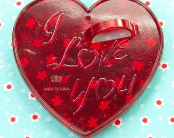 1960's Transparent HRM Valentine Heart Cookie Cutter USA