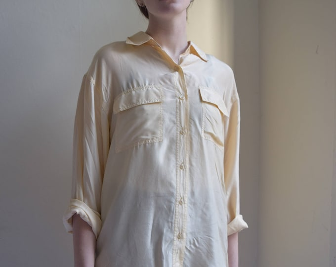 Champagne Silk Long Sleeve Shirt  |  Print Optional