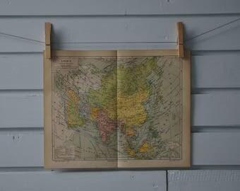 1890 Vintage Asia Map