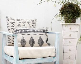 Block Print Pillow Cover 16x24 Lumbar Pillow Cushion Cover, Tribal Pillow, Decorative Throw Pillow Cover, Boho Pillow