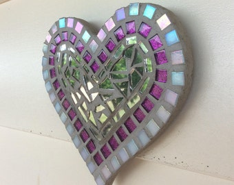 Handmade beautiful mosaic heart