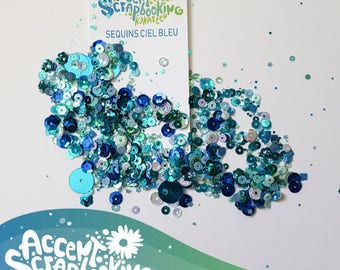 """Sequins """"Sky blue"""" exclusive ETSY"""