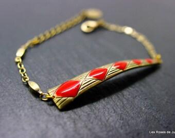 Bracelet art deco diamond