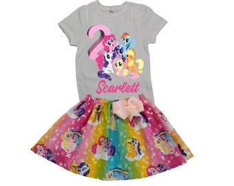 Girl My Little Pony birthday outfit Girl Little Pony skirt shirt Toddler My Little Pony outfit Girl clothes Girl Pony skirt shirt