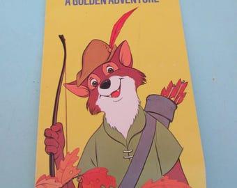 Whitman Walt Disney Productions Robin Hood A Golden Adventure 1973 Free Shipping