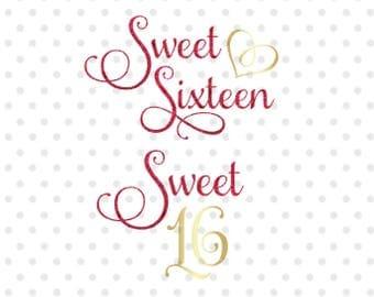 Sweet Sixteen Etsy